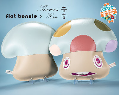 Designer Con 2019 Exclusive Mushi Mushi Mushroom Plush by Flat Bonnie x Thomas Han