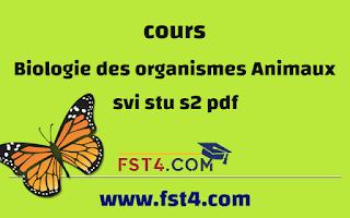 BIOLOGIE DES ORGANISMES ANIMAUX STU SVI