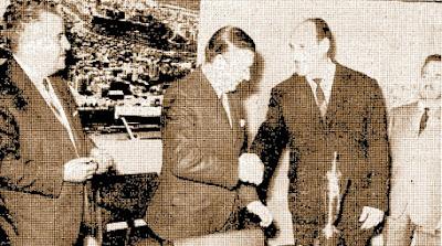 Entrega de la Copa de Campeones del Torneo Nacional de Ajedrez 1968