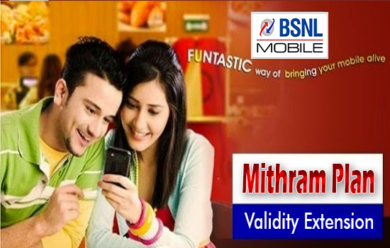 How to Extend Validity of BSNL Mithram Prepaid Mobile Plan, Top Up 200 or Recharge 49 ?