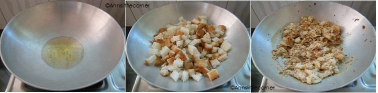 How to make Bread Halwa- Step 2