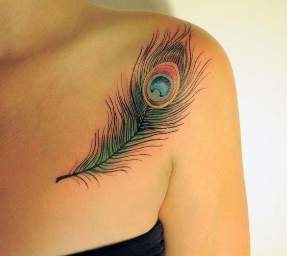 tatuagens de penas para as meninas