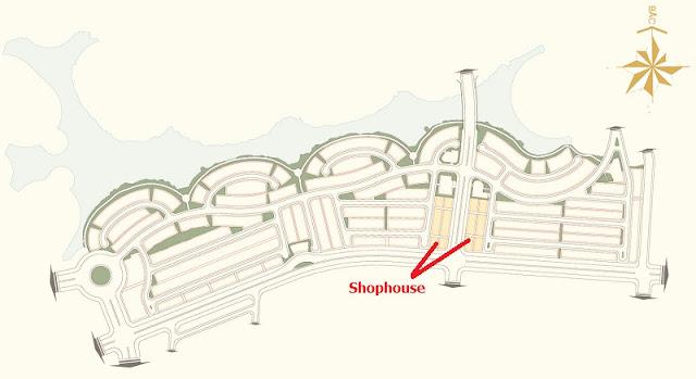 Vị trí Shophouse Vinhomes Thăng Long