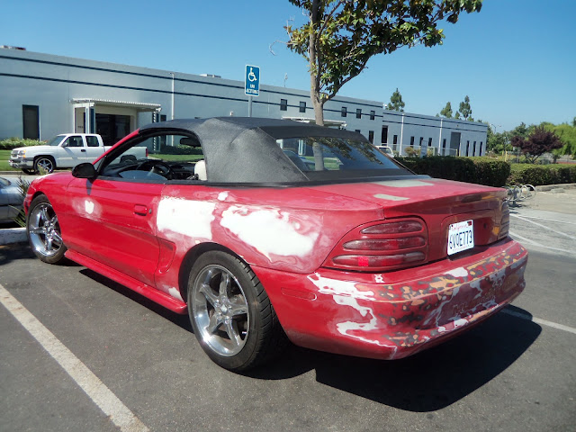 Mustang before new auto paint at Almost Everything Auto Body