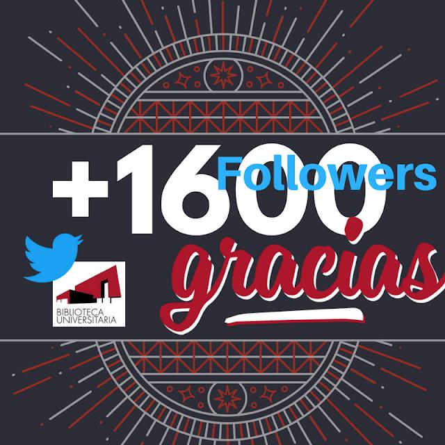 En Twitter ya tenemos más de 1600 seguidores.....y subiendo!!!!!