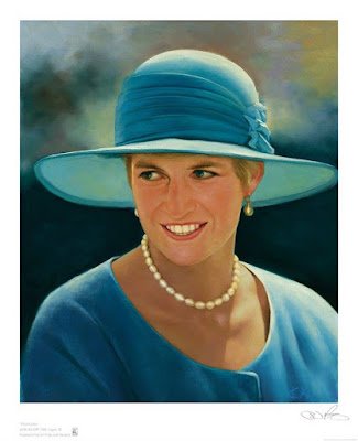 Princess Diana portrait techniques used to create the work