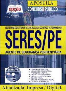 Apostila Agente de Segurança Penitenciária SERES PE atualizada 2017.