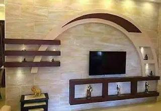 ديكورات تلفزيون حجر طبيعي