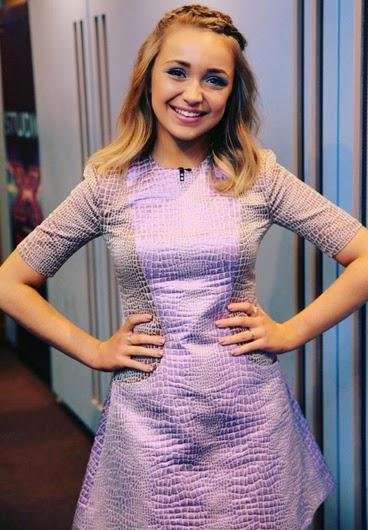 Lauren Platt House of Holland Mix Crocodile Fleur Dress   X Factor Live Shows Week 3