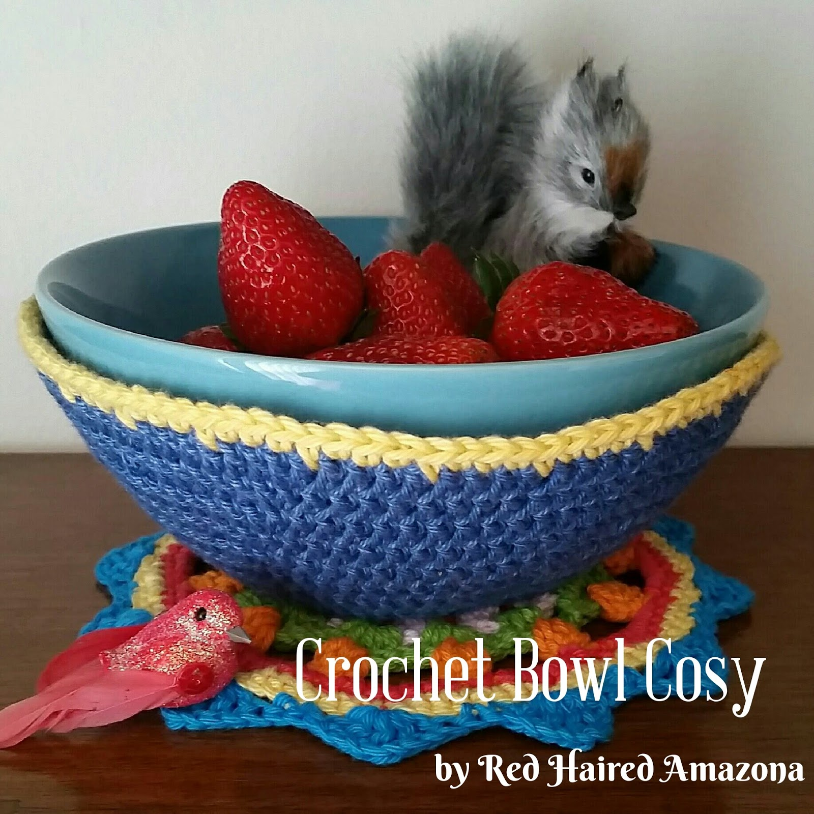 Red Haired Amazona: Crochet Bowl Cosy Free Pattern