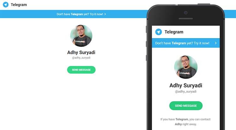 Link Direct Chat Telegram Untuk Memudahkan Kontak Langsung Admin Blog
