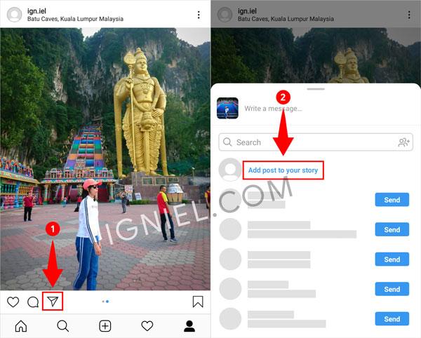 Tambahkan Postingan ke Story Instagram tanpa Screenshot
