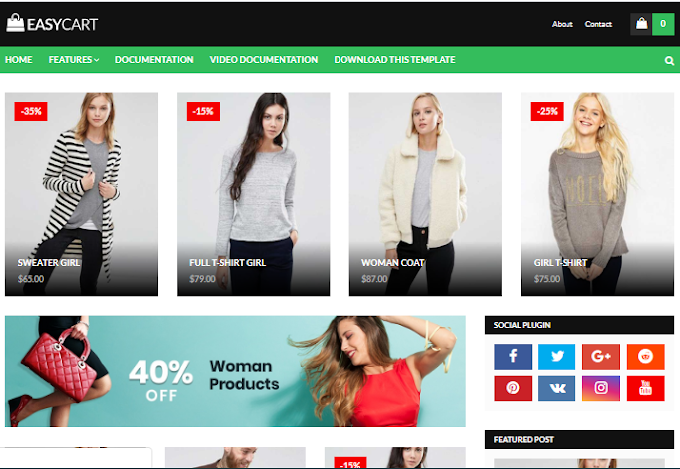 Easy-Cart Blogger Theme Download | E-commerce Blogger Theme Download