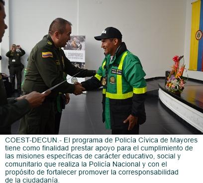 GRADUACIÓN DE NUEVOS MIEMBROS DE LA POLICÍA CÍVICA DE MAYORES