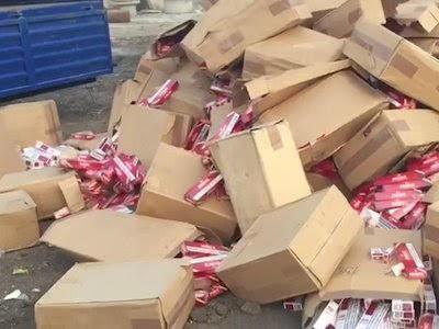 Productos armenios destruidos públicamente en Azerbaiyán