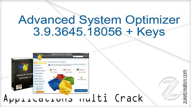 Advanced System Optimizer 3.9.3645.18056 + Keys