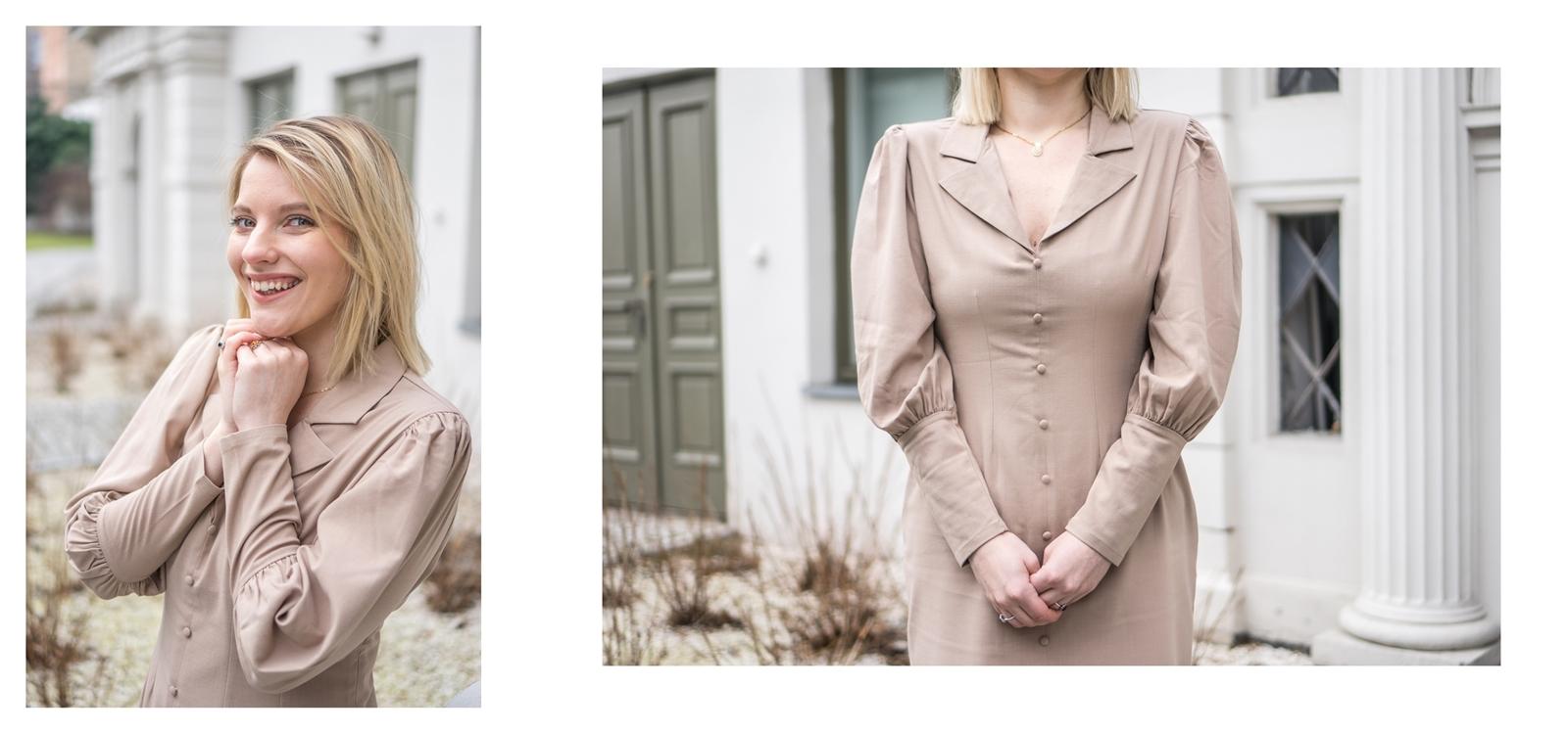 8a na-kd na kd lounge kod zniżkowy outlet rabat zakupy płaszcz na jesień kremowy sukienka modne stylizacje total look blog łódź fashion lifestyle