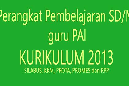 Rpp Silabus Prota Promes PAI K13 SD Kelas 1 2 3 4 5 6  Revisi 2018 Lengkap