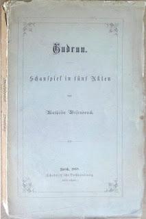 Verschiedene Einbände der Gudrun 1868, Pappband