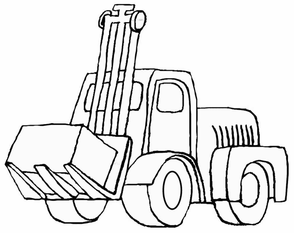 contoh gambar mewarnai gambar mobil traktor