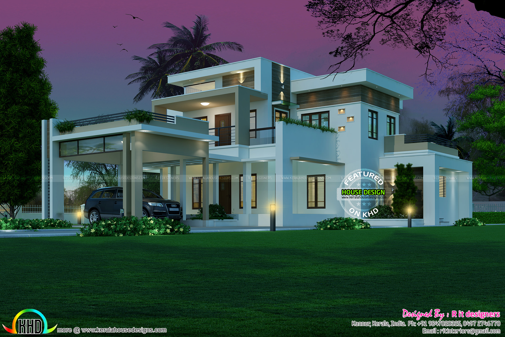 Kerala home design and floor plans for Architecture home design pictures