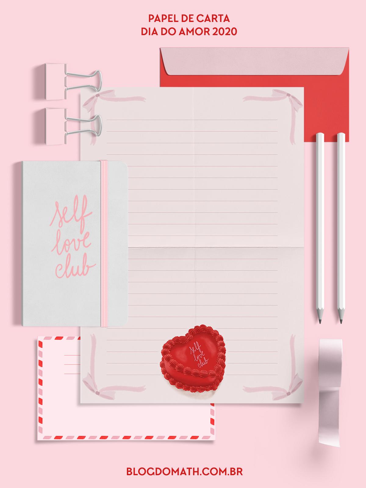 papel de carta vintage decorado dia dos namorados para imprimir - presente dia dos namorados 2020 quarentena - blog do math