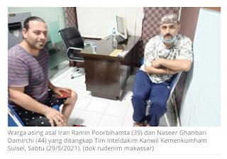 Imigrasi Sulsel menangkap pencari suaka asal Iran yang melarikan diri