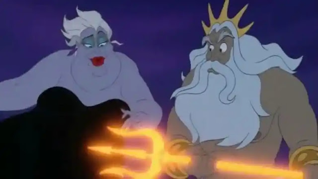 Ursula and Triton in Little Mermaid