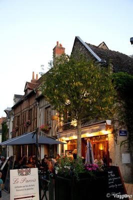 Le belle case a graticcio nel centro di Amboise