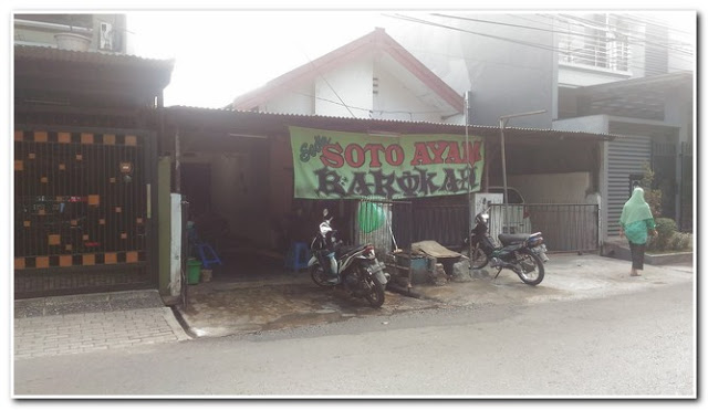 Lokasi Soto Ayam Barokah di Jalan Menanggal, Surabaya