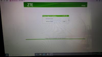 Cara Merubah Pasword Wifi pada Modem ZTE F609