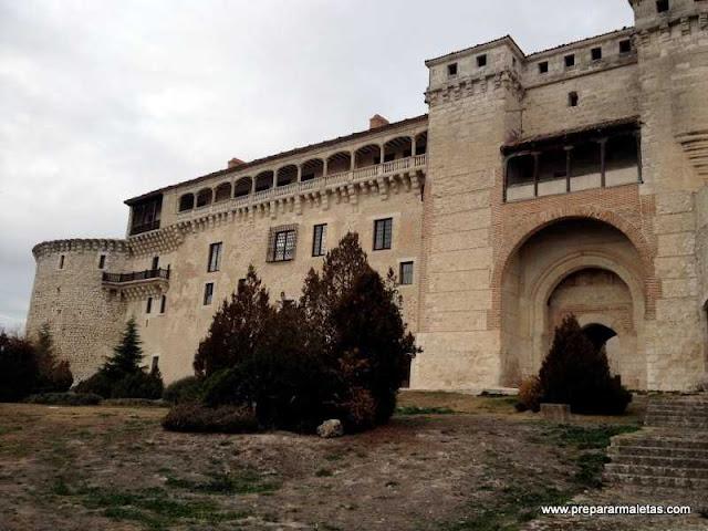 Castillo medieval en Cuéllar cerca de Segovia