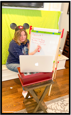 Heading to Disneyland during distance teaching is easy with a green screen