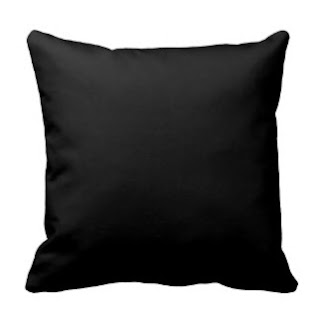 Black throw pillow