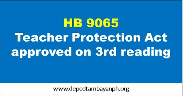 Teacher Protection Act approved on final reading
