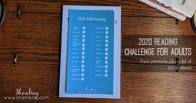 2020 Reading Challenge List for Adults