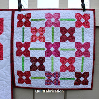 FLOWER QUILT-MINI QUILT-PINK QUILT-SCRAPPY AND HAPPY QUILTS
