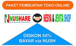 NUSHARE; Sediakan Paket Pembuatan Toko Online Untuk Member & Non Member