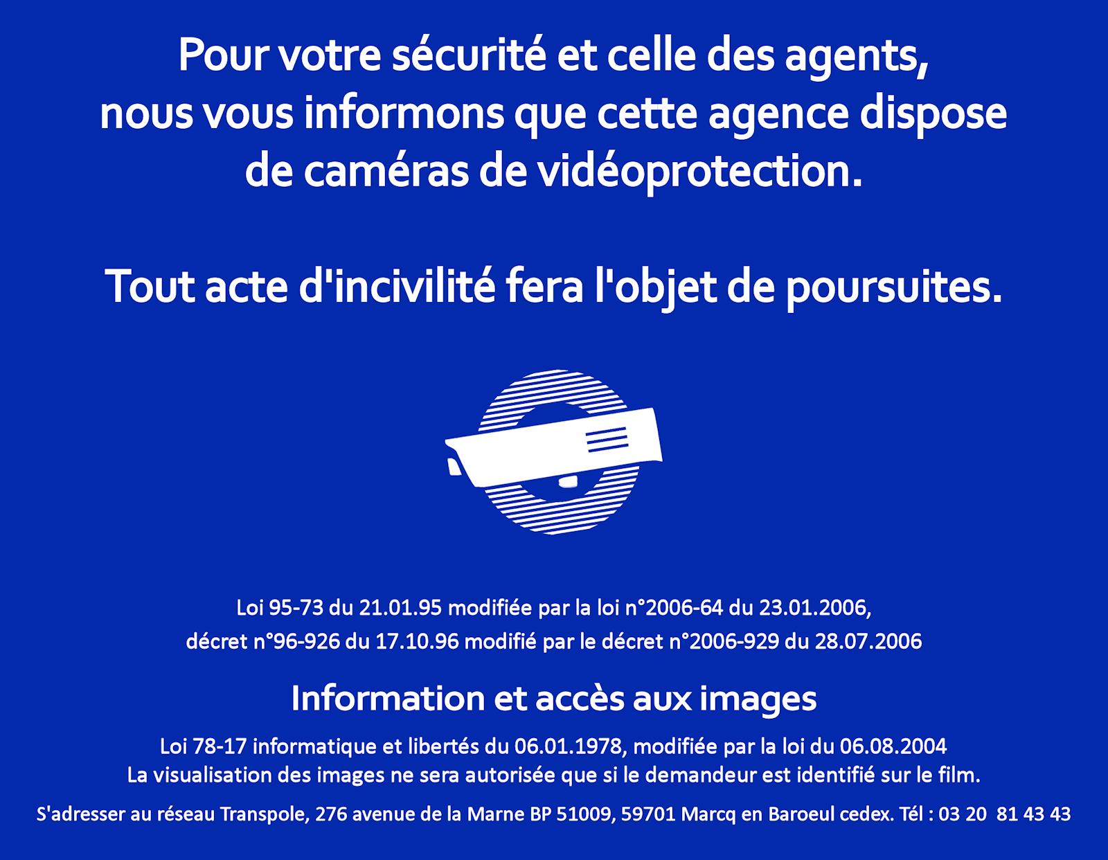 Vidéoprotecion Agence ilévia Tourcoing