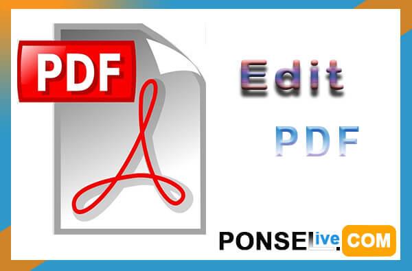 cara edit pdf online offline