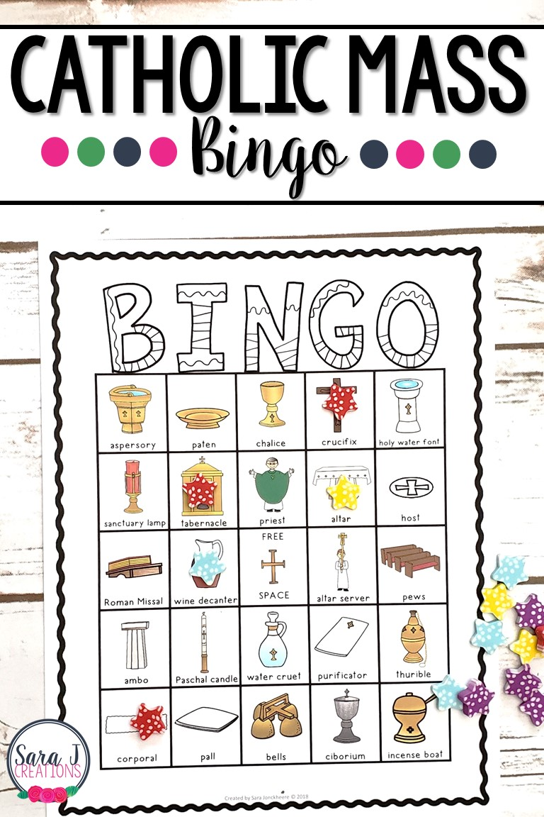 Help your students learn about the items used during the Catholic Mass with these fun mass item bingo cards
