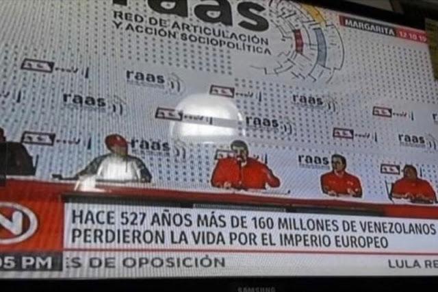Según VTV : Europa mató a 160 millones de Venezolanos antes del descubrimiento de América