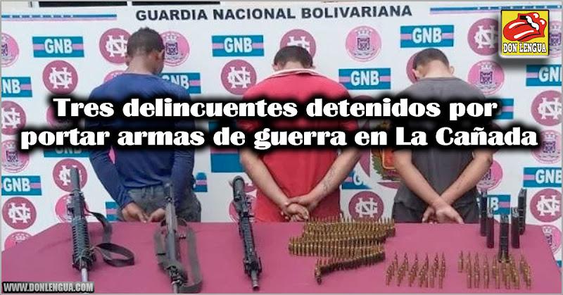 Tres delincuentes detenidos pro portar armas de guerra en La Cañada