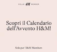 H&M Calendario dell'Avvento 2020 : vinci gratis 92 premi e Gift Card da 500 euro
