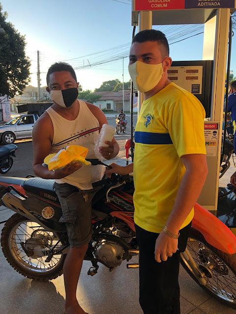 Primeiro cliente do Posto Brasil