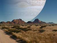 What it would look like if Jupiter was the same distance away from the Earth as the Moon is?