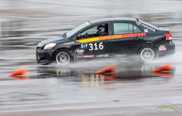 Armstrong Racing Toyota Yaris Sedan at the autocross