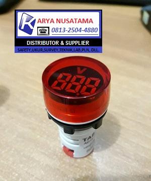 Jual Lampu Indikator Voltmeter AD16-22DV Merah di Probolinggo