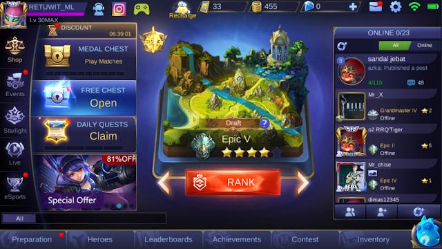 Test Mobile Legends Paket Axis 4G OWSEM Unlimited Gaming 4