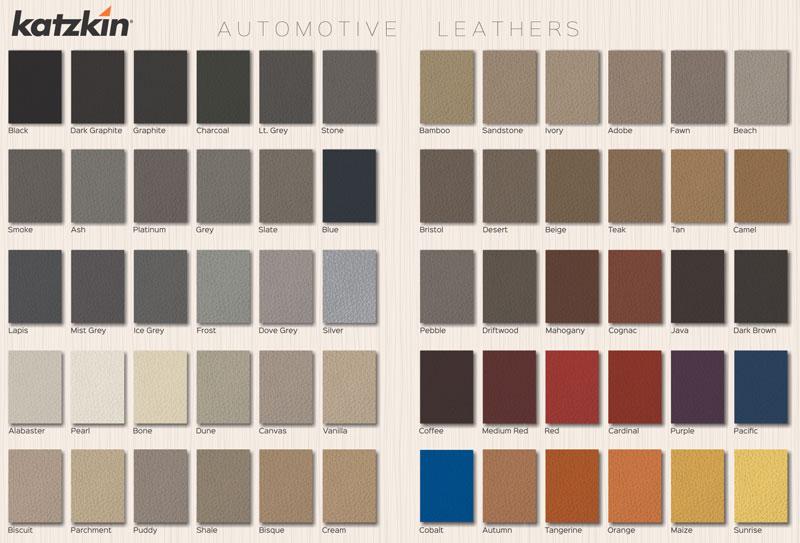 ShopSAR Katzkin Color Samples Available On ShopSAR